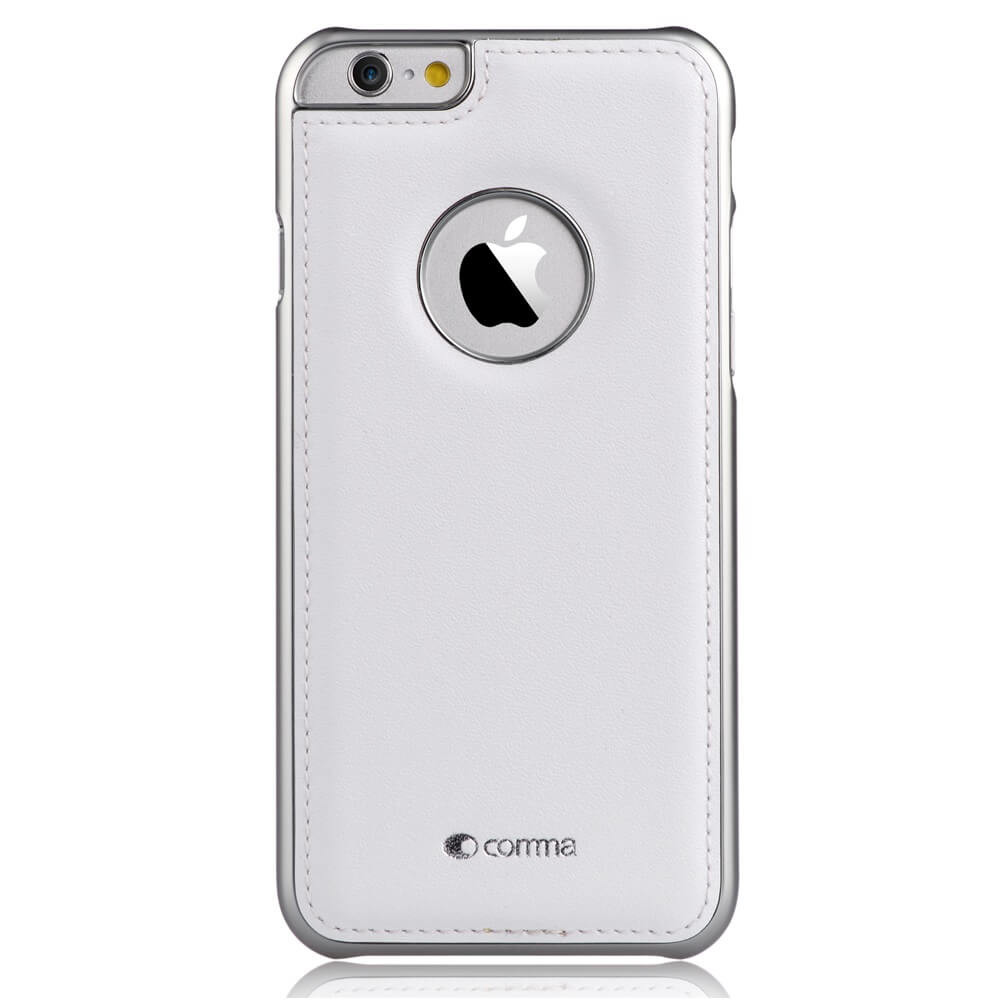 Comma Icon Leather Case iPhone 6, iPhone 6S (white)
