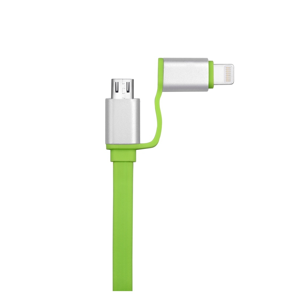 Devia Magic Forza 2 in 1 Cable with Lightning and MicroUSB (green)