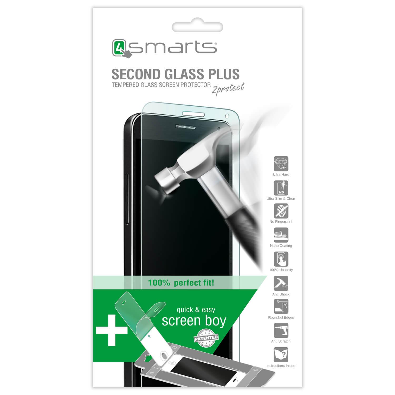 4smarts Second Glass Plus - комплект уред за поставяне и стъклено защитно покритие за дисплея на LG G5 (прозрачен)