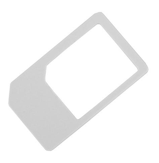 Micro SIM Card Adapter Socket Holder for iPad and iPhone 4G (white)