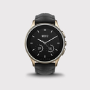 Vector Luna Smartwatch Champagne Gold with Black Croco Strap - луксозен Bluetooth тъч часовник за iOS и Android смартфони (черна кожена каишка)