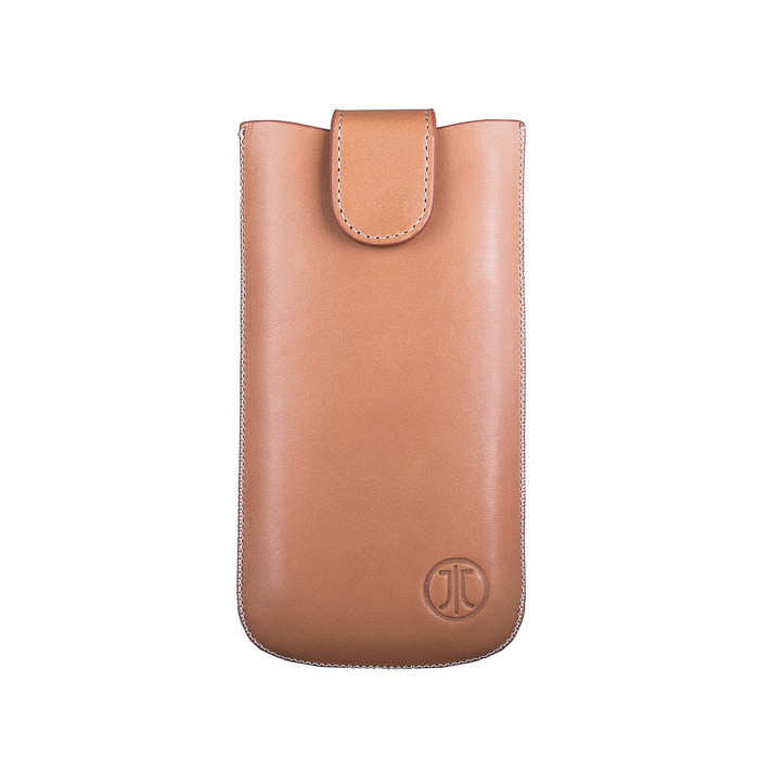 JT Berlin SlimCase Premium 2ML - кожен калъф (естествена кожа) за iPhone 6, iPhone 8, iPhone 7, Galaxy Alpha, Galaxy S5 mini, HTC One Mini 2 (кафяв)