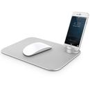 Verus Slate Mouse Pad - дизайнерски алуминиев пад за мишка (сребрист)