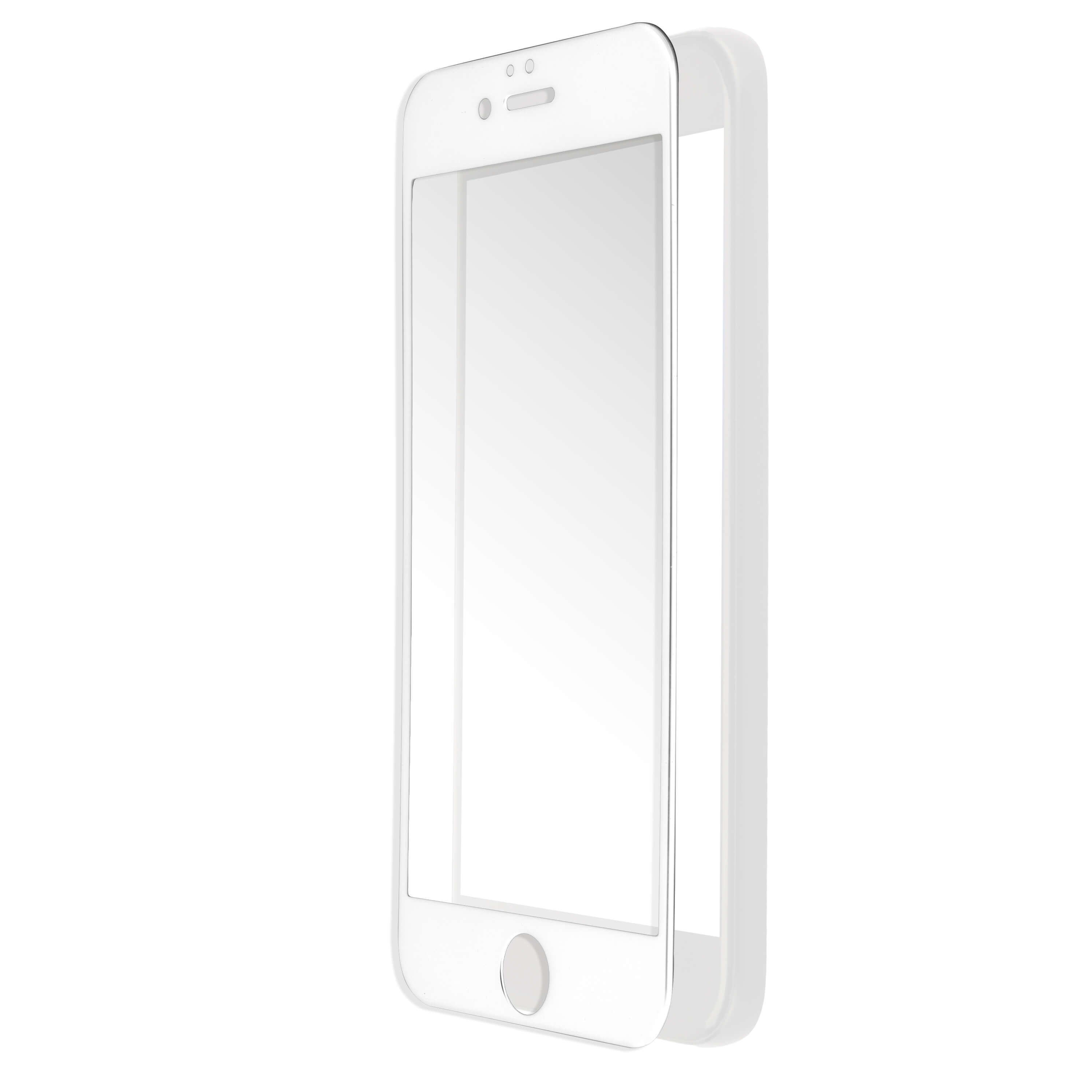 4smarts Second Glass Curved 2.5D for iPhone 6, iPhone 6s (white)