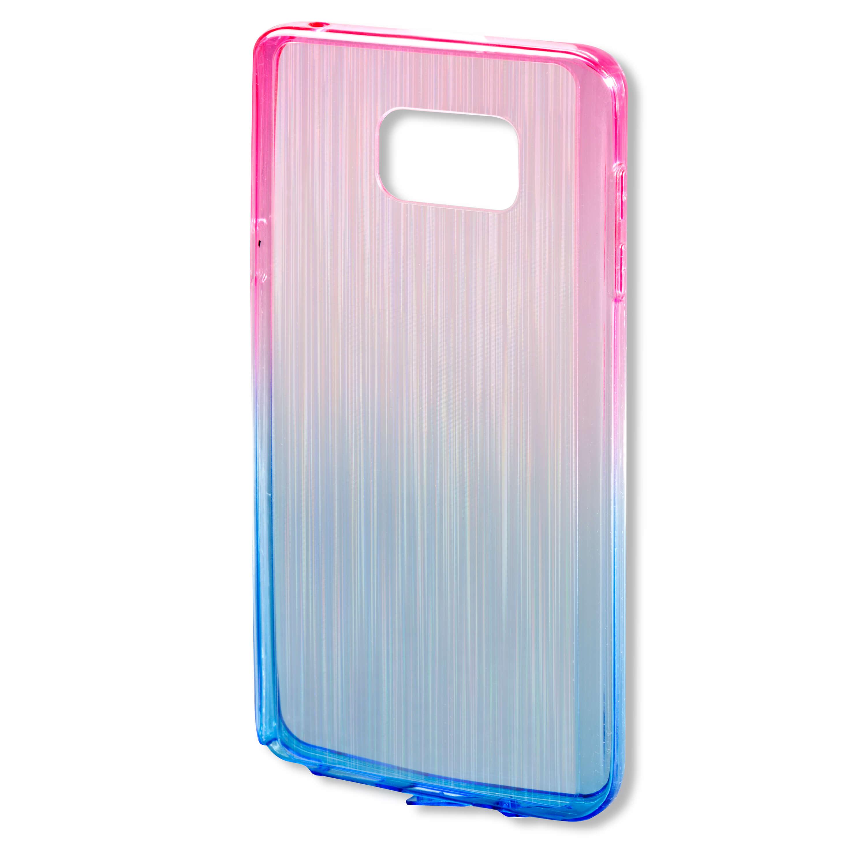 4smarts Basic Frisco Rainbow Case Clip - тънък силиконов кейс за Samsung Galaxy S7 Edge (син-розов)