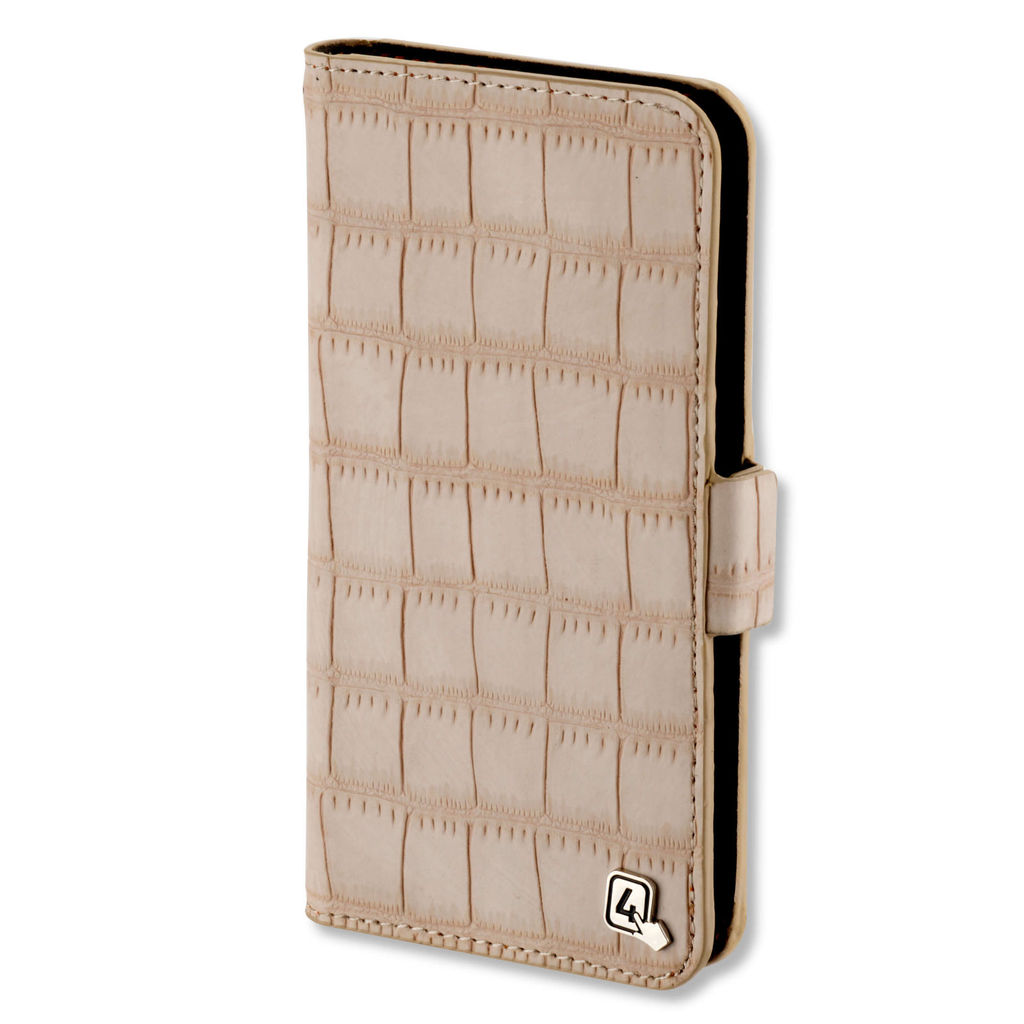 4smarts Ultimag Book Norwalk Case for smartphones up to 5.2 in. (croco beige)