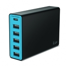 iLuv RockWall6 Portable USB Port Charger - захранване с 5 USB изхода и USB-C изход за мобилни телефони и таблети