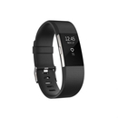 Fitbit Charge 2 Black Silver Large Size Wireless Activity and Sleep for iOS and Android