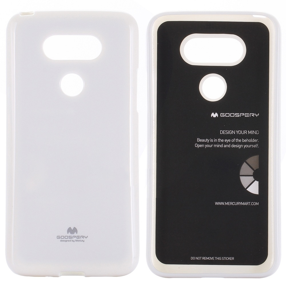 Mercury Goospery Jelly Case - силиконов (TPU) калъф за LG G5 (бял)