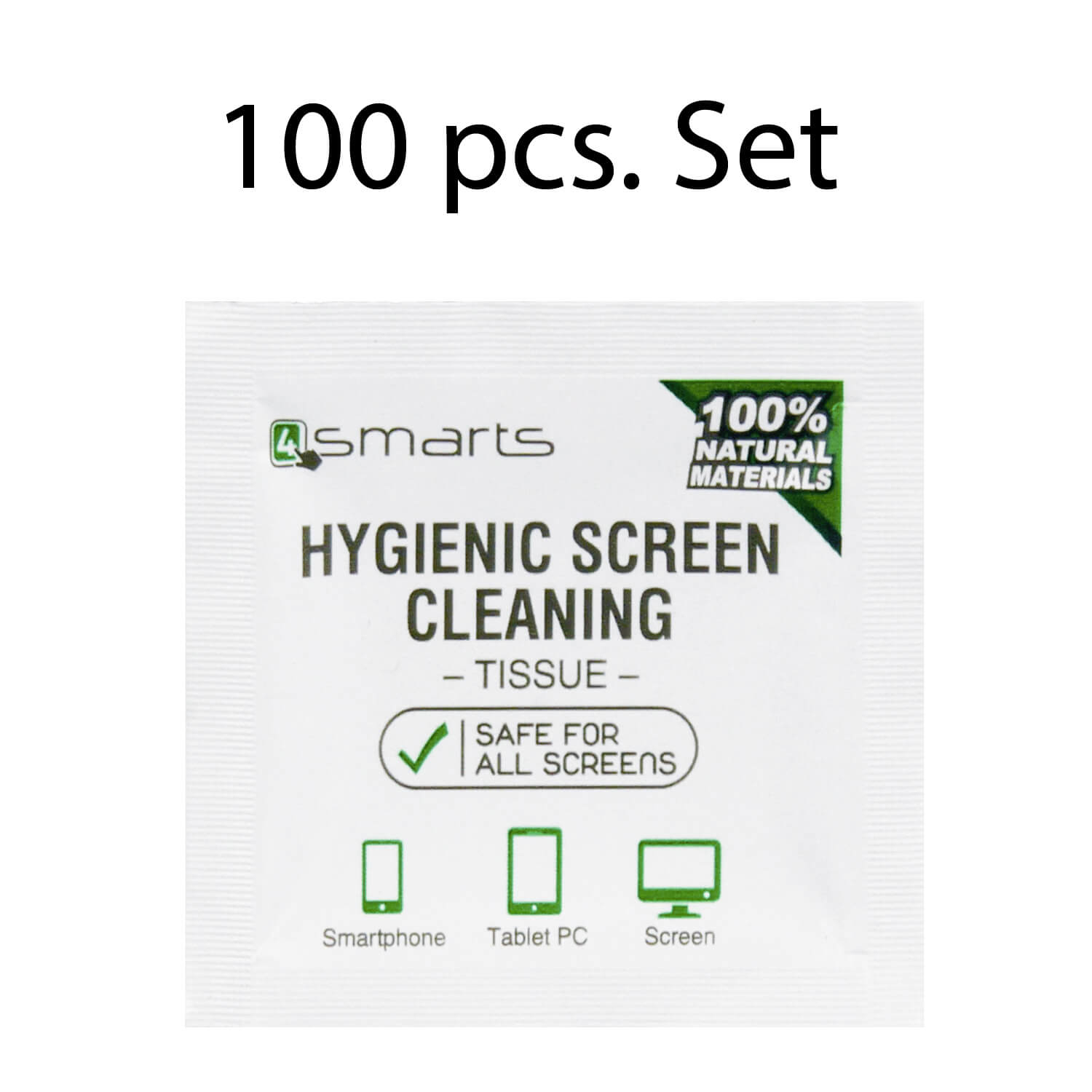 4smarts Anti Bacterial Screen Cleaning Wipes Extra Clean 100 pcs.