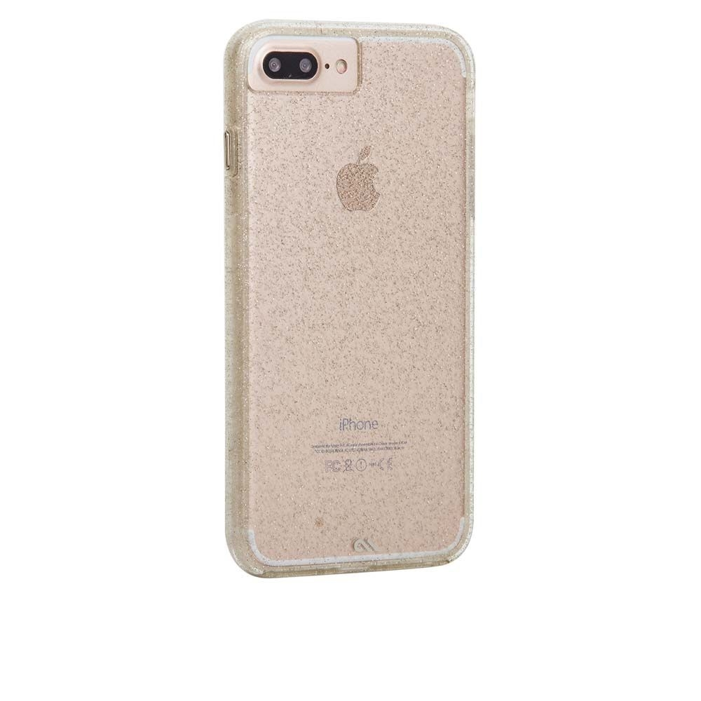 CaseMate Naked Tough Sheer Glam Case - кейс с висока защита за iPhone 8 Plus, iPhone 7 Plus, iPhone 6S Plus, iPhone 6 Plus (златист)