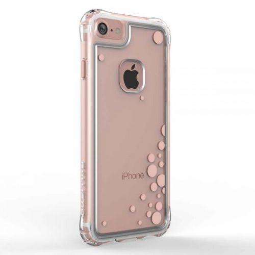 Ballistic Jewel Essence Case - хибриден удароустойчив кейс за iPhone 8, iPhone 7 (прозрачен с розови точки)