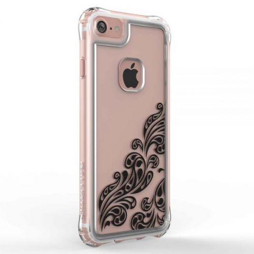 Ballistic Jewel Essence Case - хибриден удароустойчив кейс за iPhone 8, iPhone 7 (прозрачен с черни мотиви)