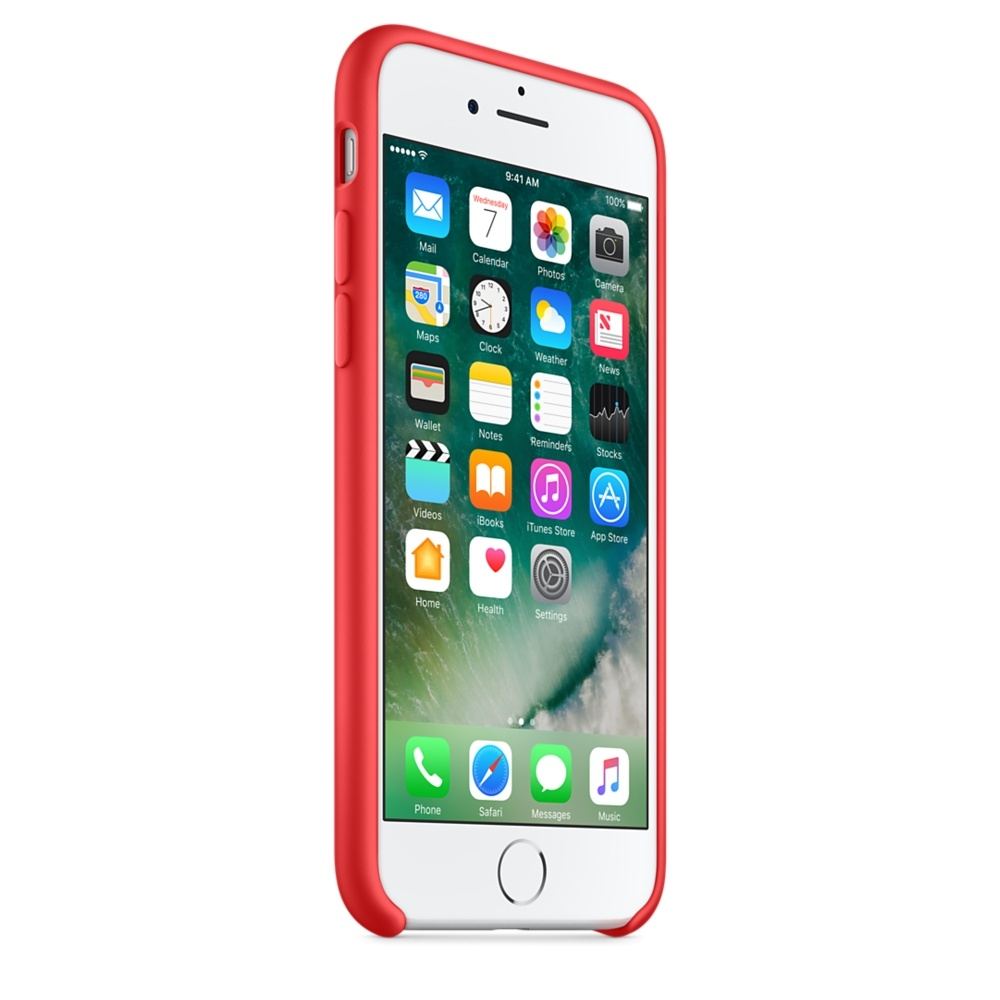 Apple Silicone Case For IPhone 8 7 Red 2