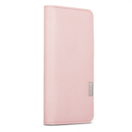 Moshi Overture Flip Wallet Case for iPhone 8 Plus, iPhone 7 Plus (pink)