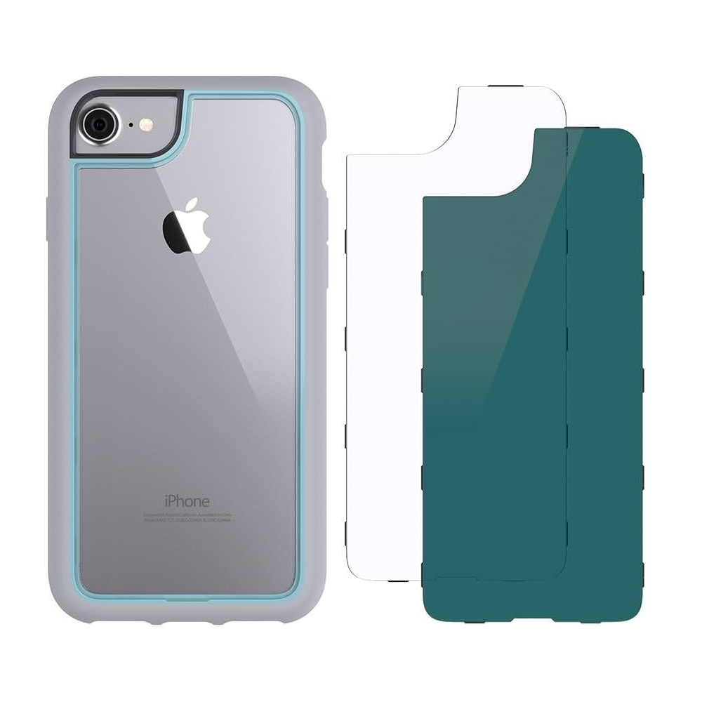 Griffin Survivor Adventure Case - хибриден удароустойчив кейс за iPhone 8, iPhone 7, iPhone 6S, iPhone 6 (сив)