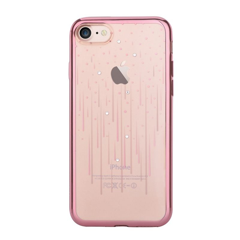 iphone 7 plus rose gold. devia crystal meteor case with swarovski elements for iphone 8 plus, 7 plus (rose gold) iphone rose gold