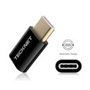 TeckNet TF001 USB-C Male to MicroUSB Female Adapter - 2 броя microUSB адаптер за MacBook 12 и устройства с USB-C порт