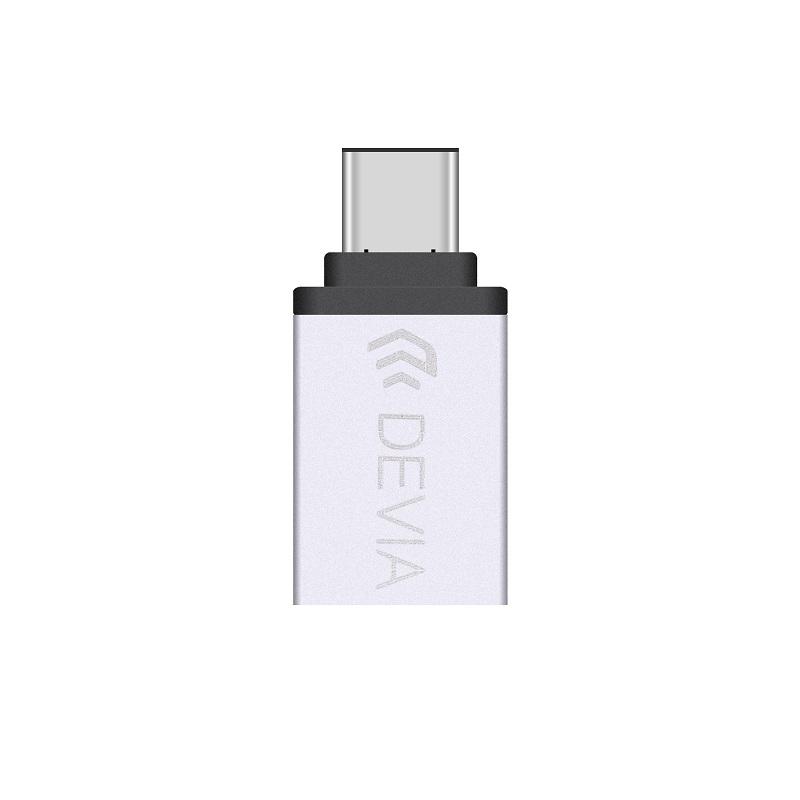 Devia Itec2 USB-C to USB-A 3.0 Adapter - USB-A адаптер за MacBook и устройства с USB-C порт
