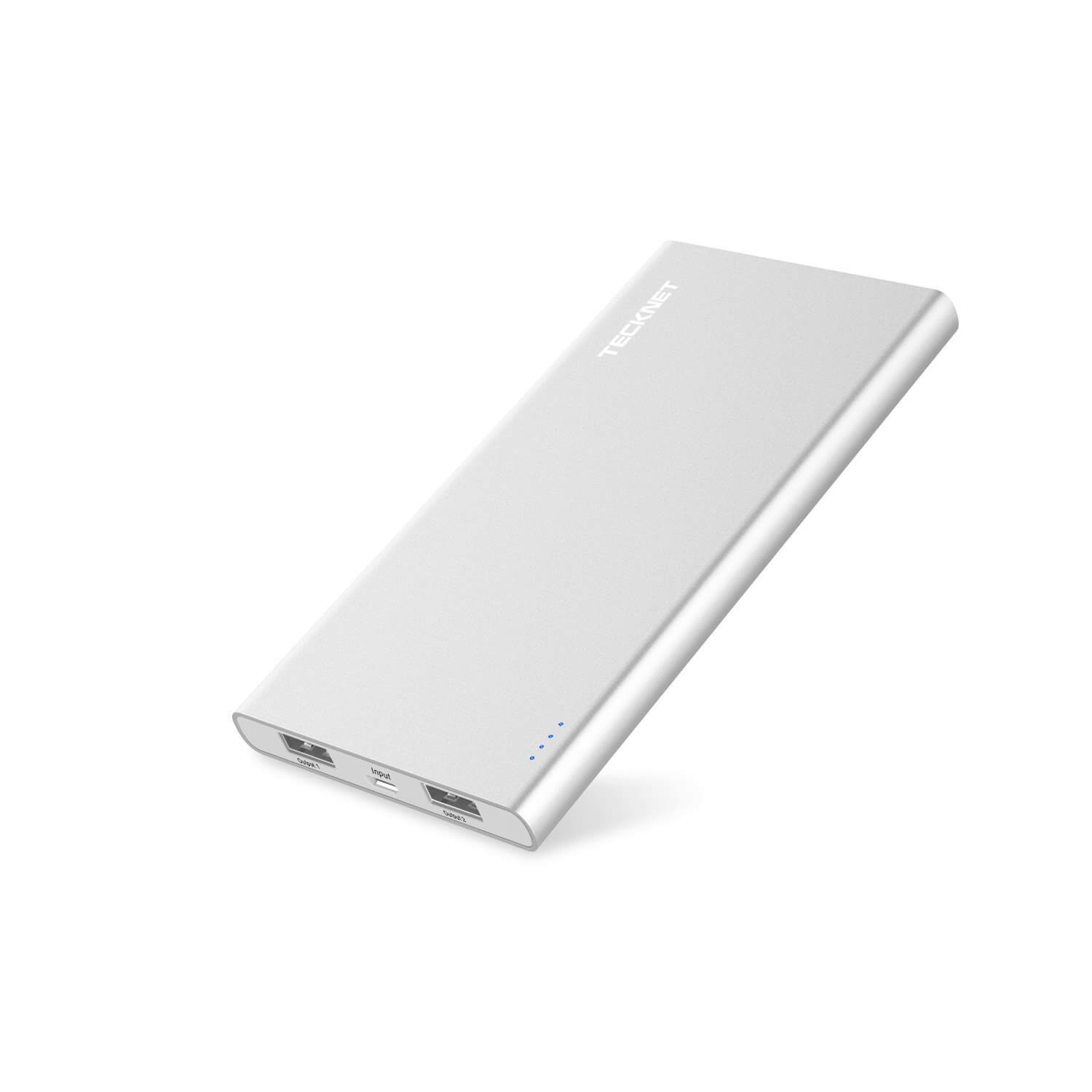 TeckNet iEP1000 PowerCrest C1 10000mAh Fast Portable Charger Battery Pack (silver)