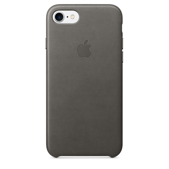 Apple iPhone Leather Case for iPhone 8, iPhone 7 (storm gray)