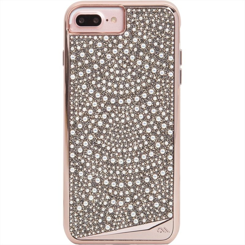 CaseMate Brilliance Case - кейс с висока защита и кристали за iPhone 8 Plus, iPhone 7 Plus, iPhone 6S Plus, iPhone 6 Plus (златист)