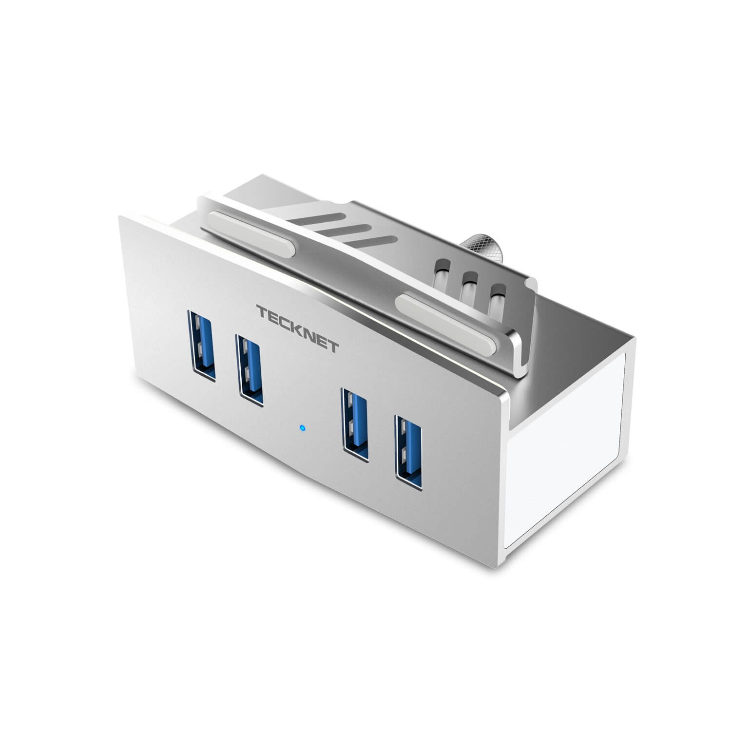 TeckNet HU049 Aluminum USB 3.0 4-Port Clamp Hub