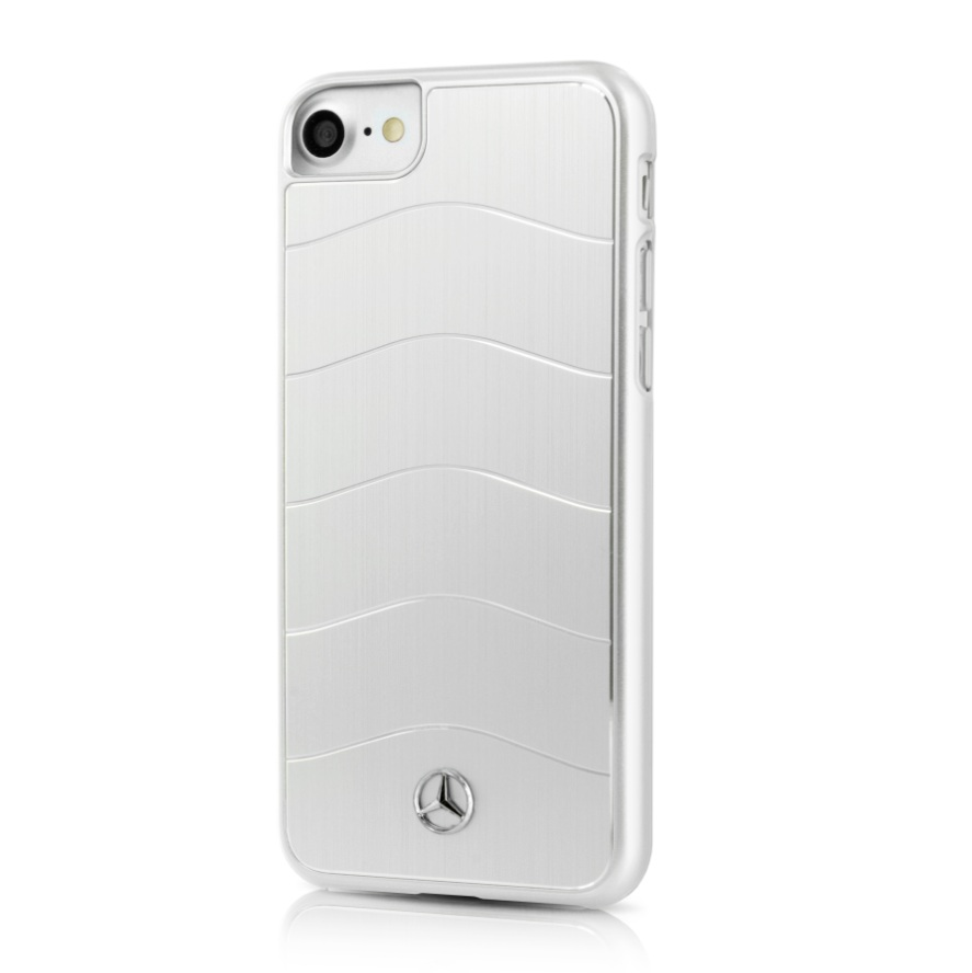 Mercedes-Benz Aluminium Hard Case - дизайнерски алуминиев кейс за iPhone 8 Plus, iPhone 7 Plus (сребрист)