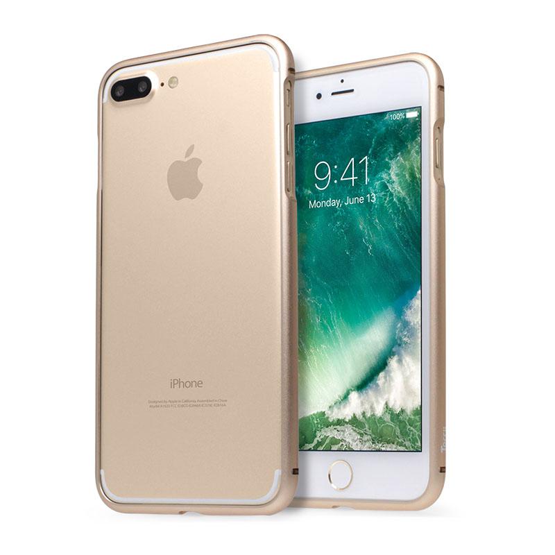 Torrii MagLoop Bumper Case - магнитен алуминиев бъмпер и покрития за дисплея и задната част за iPhone 8 Plus, iPhone 7 Plus (златист)