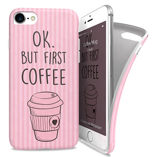 iPaint Coffe Mug Soft Case for iPhone 8, iPhone 7