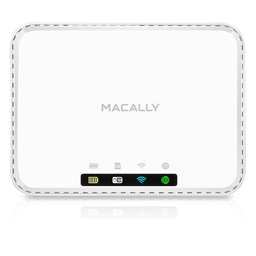 Macally WiFiSD2 Wi-Fi media hub and battery (white)