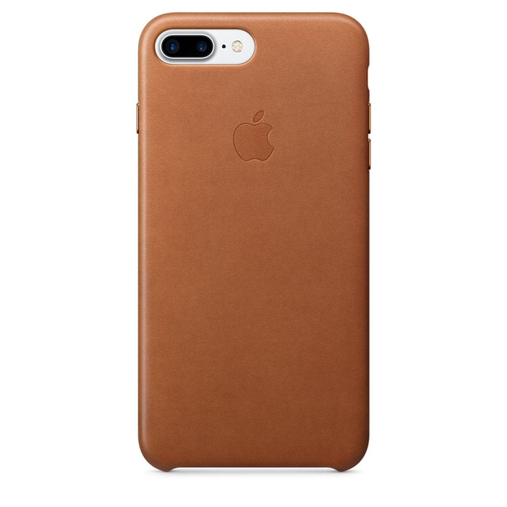 Apple iPhone Leather Case for iPhone 8 Plus, iPhone 7 Plus (saddle brown)