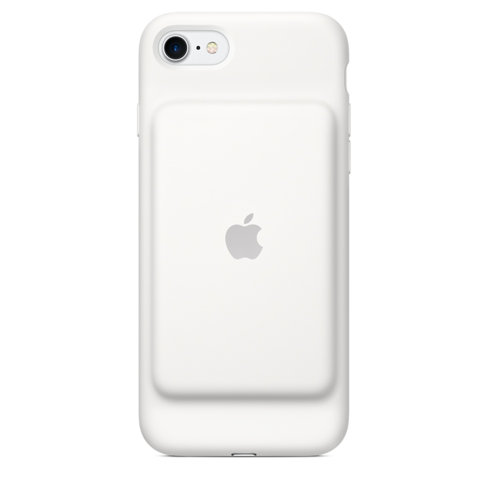 Apple Smart Battery Case - оригинален кейс с вградена батерия за iPhone 7 (бял)