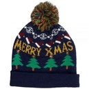 KitSound Audio Beanie Hat with LED Lights, Pom Pom and Built-In On-Ear Headphones in Christmas Tree