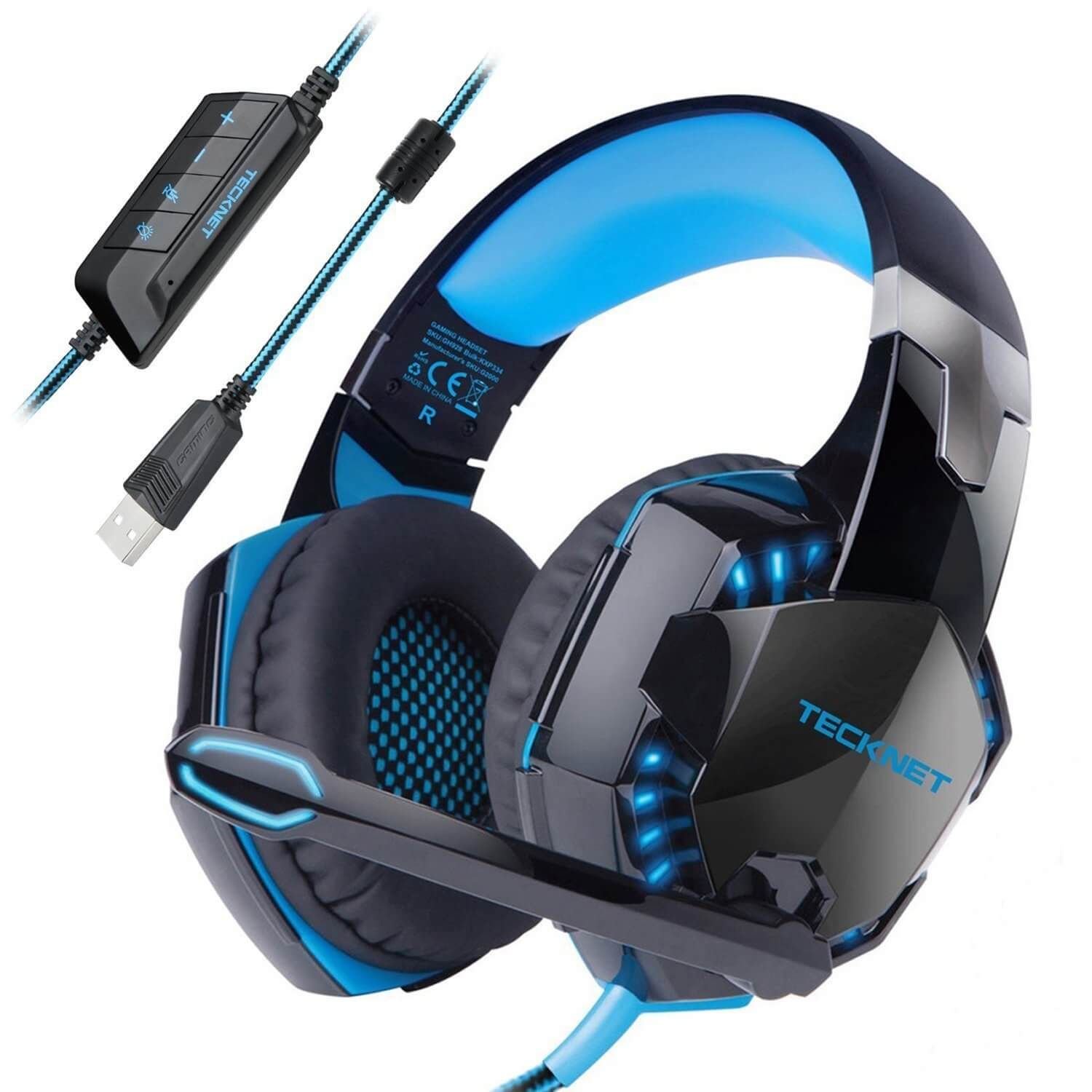 tecknet gh928 7 1 channel surround sound gaming headset. Black Bedroom Furniture Sets. Home Design Ideas