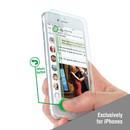 4smarts Second Glass Smart Buttons 2.0 - калено стъклено защитно покритие за дисплея на iPhone 7, iPhone 6, iPhone 6S (прозрачен)