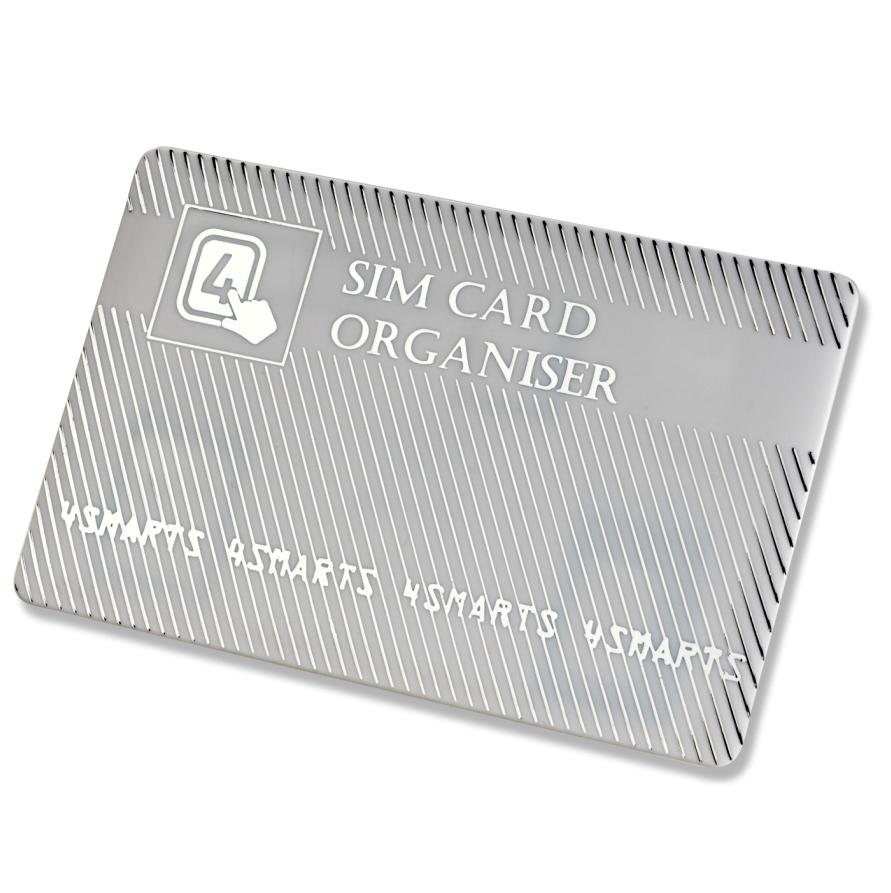 4smarts SIM Card Organiser with Adapters (silver)