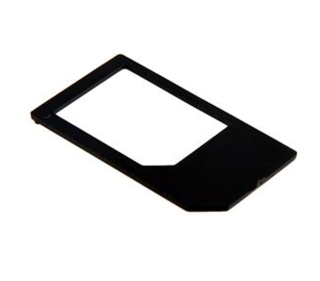 Micro Sim Card to Standard Sim Card Adapter for iPhone 4 and iPad (Black)