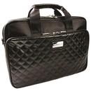 Krusell Avenyn Laptop Bag - кожена чанта за преносими компютри до 16 инча (черна)