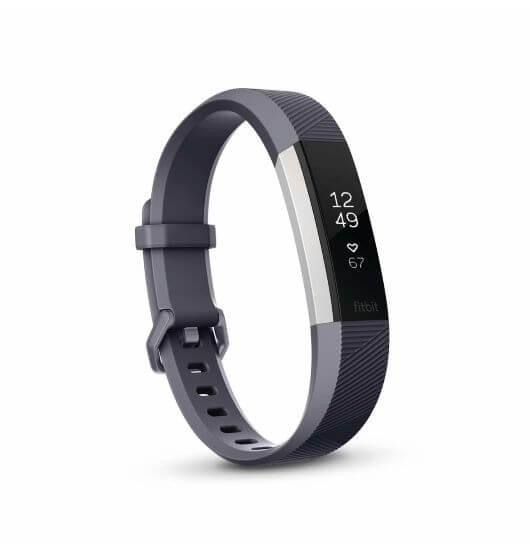 Fitbit Alta HR Small Size - Heart Rate plus Fitness Wristband (blue-gray)