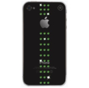 Swarovski Stripe Fern Green - кейс с кристали на Сваровски за iPhone 4/4S