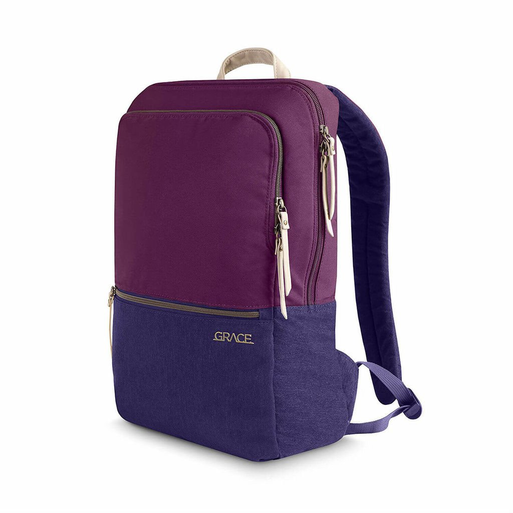 STM Grace Backpack - елегантна и стилна раница за MacBook Pro 15 и лаптопи до 15 инча (лилав)
