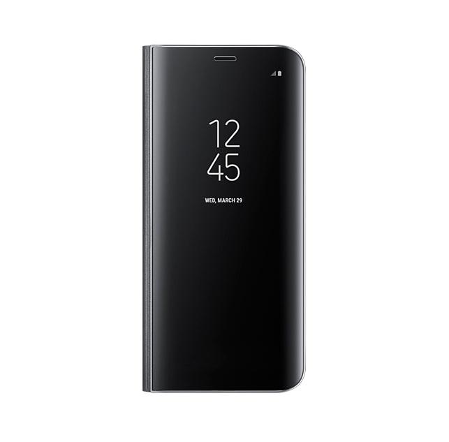 Samsung Clear View Stand Cover EF-ZG950CBEGWW - оригинален кейс с поставка, през който виждате информация от дисплея за Samsung Galaxy S8 (черен)