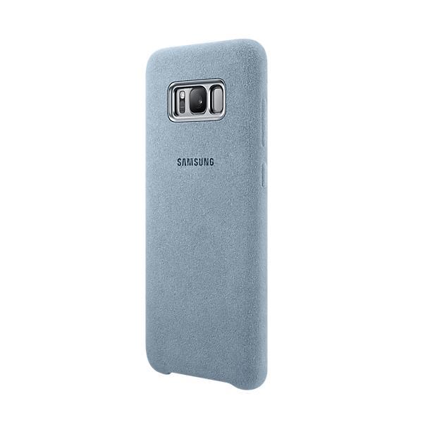 Samsung Alcantara Cover EF-XG955AMEGWW - оригинален кейс от алкантара за Samsung Galaxy S8 Plus (светлосин)