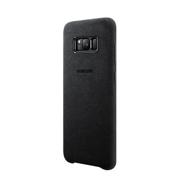 Samsung Alcantara Cover EF-XG955ASEGWW - оригинален кейс от алкантара за Samsung Galaxy S8 Plus (тъмносив)