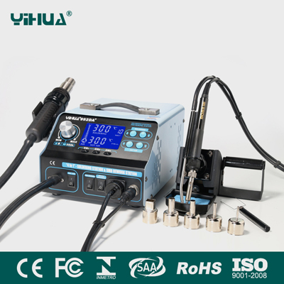 YIHUA 992DA+ 3in1 Upgrade Version Rework Station with Smoke Absorber