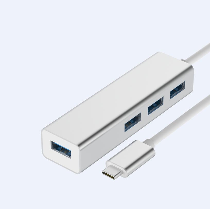 Comma iRonclad USB-C Hub with USB 3.0 - алуминиев USB-C хъб с 4xUSB 3.0 изхода