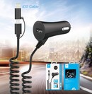 Devia T1 Car Charger MicroUSB+Lightning