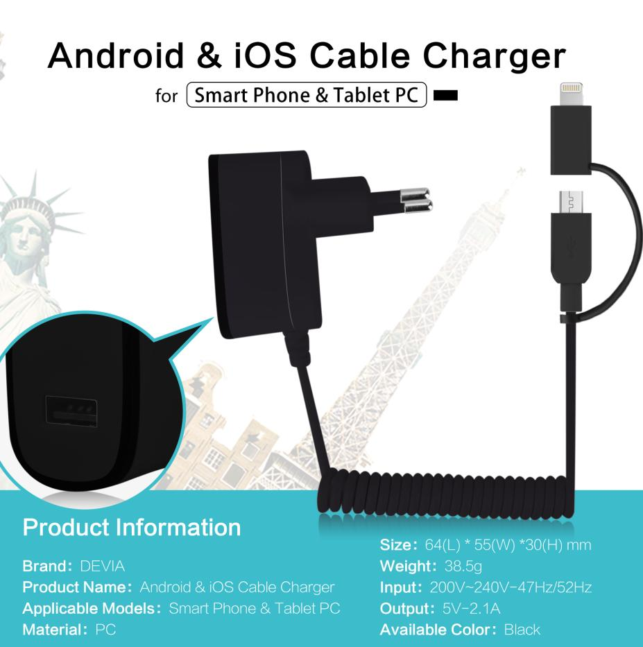 Devia Cable Charger MicroUSB+Lightning