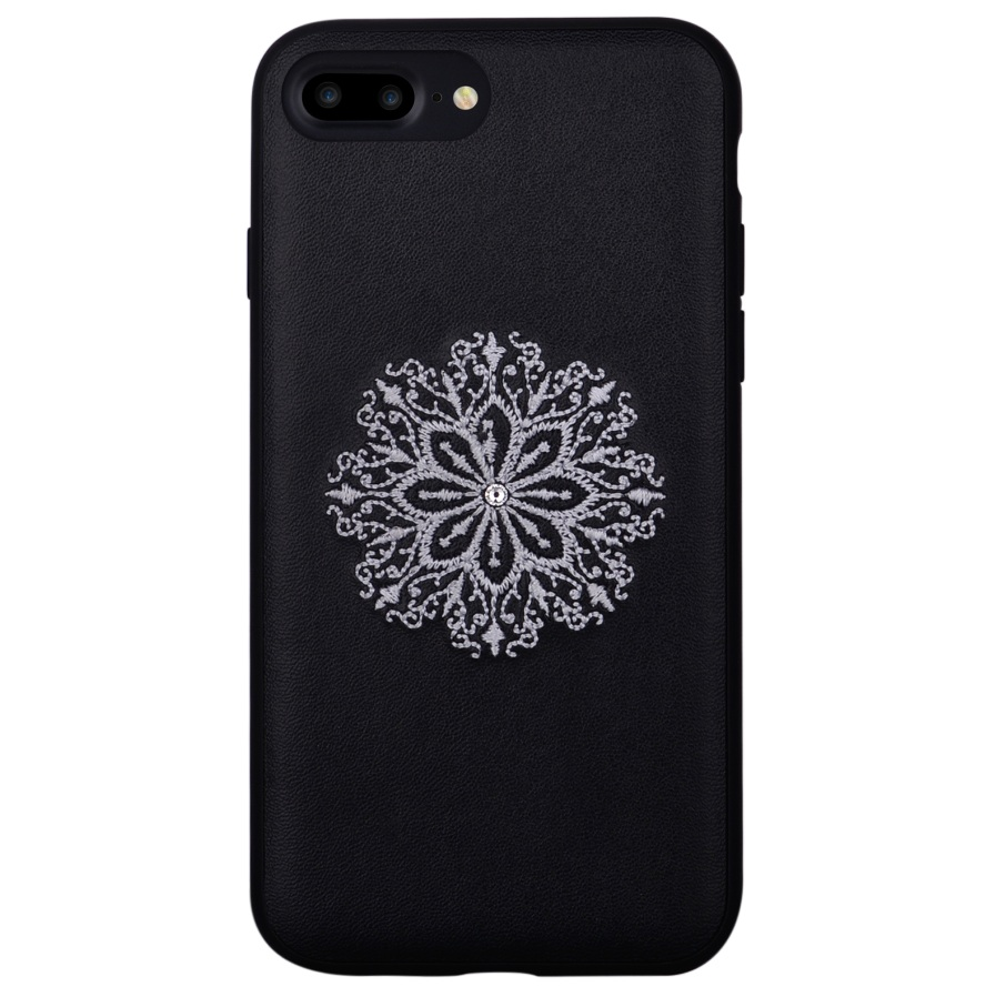 Devia Flower Embroidery Case for iPhone 8 Plus, iPhone 7 Plus (black)